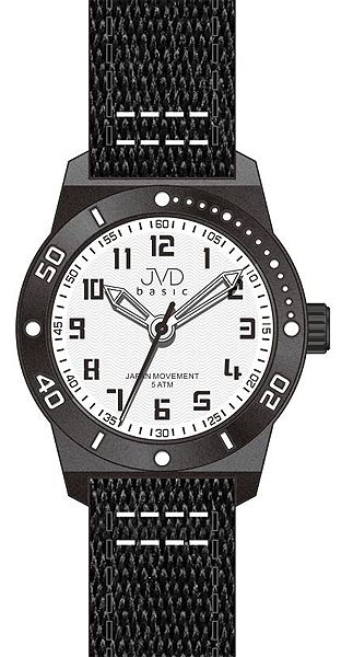 Černé dětské chlapecké sportovní hodinky JVD basic J7129.1 5ATM