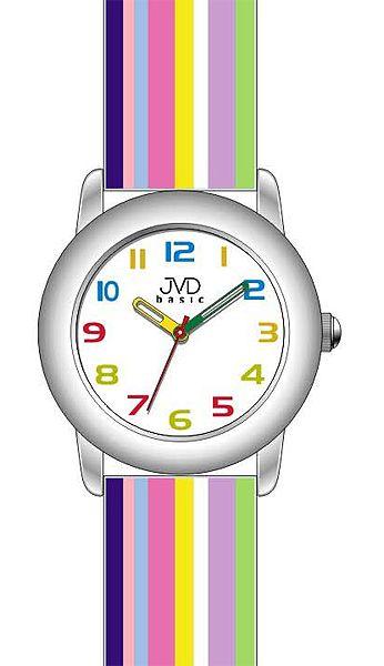 Dětské náramkové hodinky JVD basic W58.2 s duhovým páskem