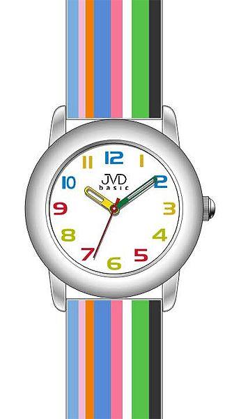 Dětské náramkové hodinky JVD basic W58.3 s duhovým páskem