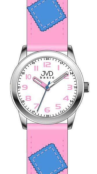Růžové dětské náramkové hodinky JVD basic W61.1