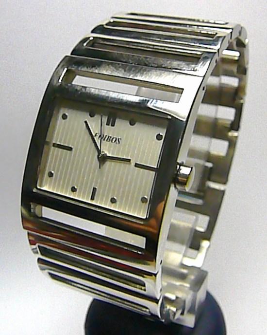 Dámské ocelové stříbrné hranaté čitelné hodinky Foibos 1648 3ATM (POŠTOVNÉ ZDARMA!!)