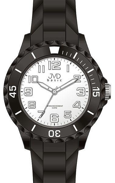 Dětské černé chlapecké silikonové hodinky JVD basic J7133.1 - 5ATM