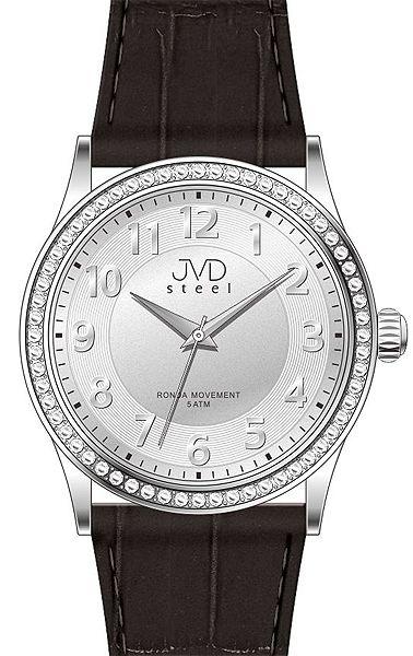 Dámské elegantní náramkové hodinky JVD steel J1085.1 se zirkony