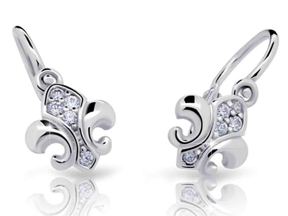 Dětské diamantové náušnice, bílé zlato brilianty 4089031-0-0-99 (4089031-0-0-99)