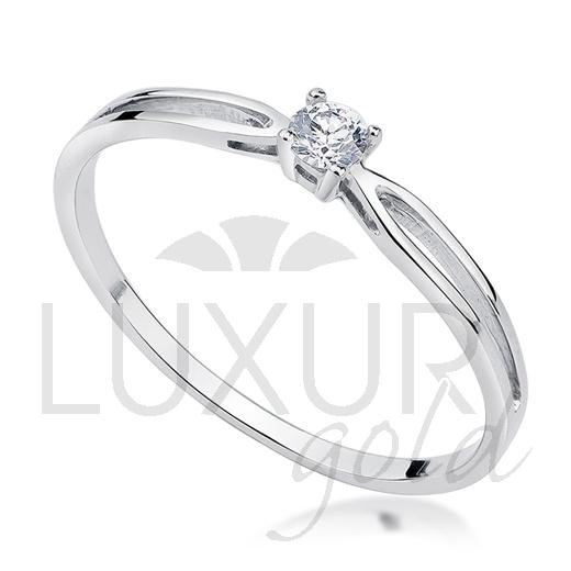 Zásnubní prsten bílé zlato se zirkonem vel. 52 585/1,05 gr P581