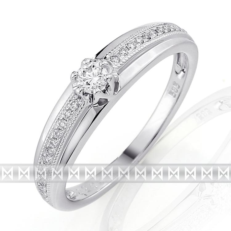 Luxusní diamantový prsten posázený mnoha diamanty (27 ks) 3861769-0-57-99 (3861769-0-57-99)