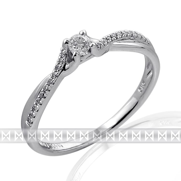 Luxusní dámský zlatý prsten posázený mnoha diamanty z bílého zlata 3861849-0-52- (3861849-0-52-99)
