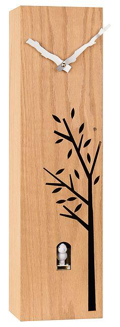 Dřevěné nadčasové moderní hranaté kukačky JVD HW65 (POŠTOVNÉ ZDARMA!!!!)