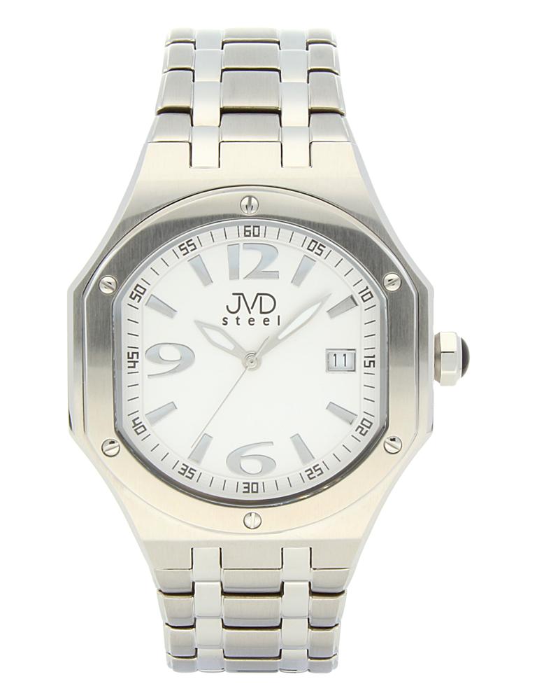 Pánský sportovní ocelový chronograf hodinky JVD steel C1128.4 - 3ATM (POŠTOVNÉ ZDARMA!!)