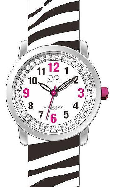Dětské dívčí náramkové hodinky JVD basic J7136.1 se zebřím motivem ZEBRA