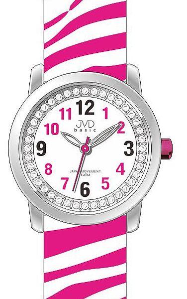 Dětské dívčí náramkové hodinky JVD basic J7136.3 se zebřím motivem ZEBRA