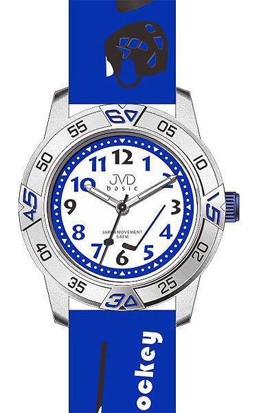 Dětské chlapecké hokejové modré náramkové hodinky JVD basic J7024.7 (HOKEJ)