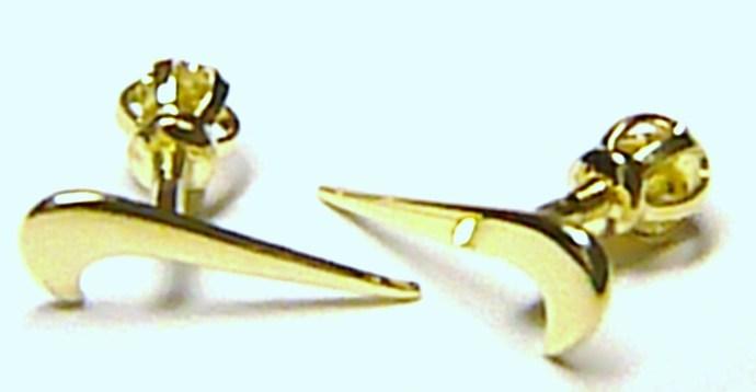 Zlaté pecičky - zlaté pecky náušnice ve tvaru NIKE na šroubek 585/0,52gr Z024 (231041013)