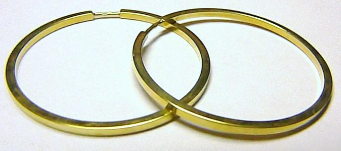 Luxusní mohutné silné zlaté velké kruhy půrměr 3cm 585/2,22gr Z026