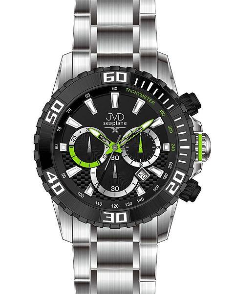 Sportovní vodotěsné ocelové chronografy hodinky JVD Seaplane J1089.1 - 10ATM  (POŠTOVNÉ ZDARMA! 7b8918f4c8
