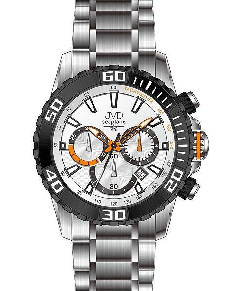 955b03f4f99 Sportovní vodotěsné ocelové chronografy hodinky JVD Seaplane J1089.2 - 10ATM