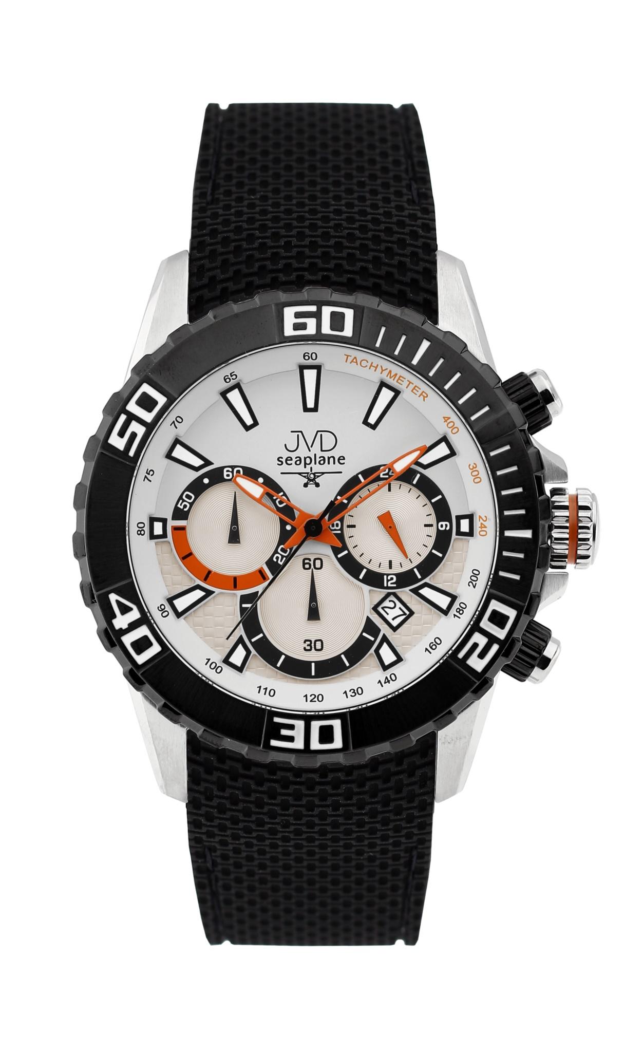 Vysoce odolné spotovní vodotěsné hodinky - chronograf JVD Seaplane J1090.1 (POŠTOVNÉ ZDARMA!!!)