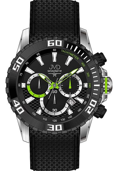 Vysoce odolné spotovní vodotěsné hodinky - chronograf JVD Seaplane J1090.2 (POŠTOVNÉ ZDARMA!!!)