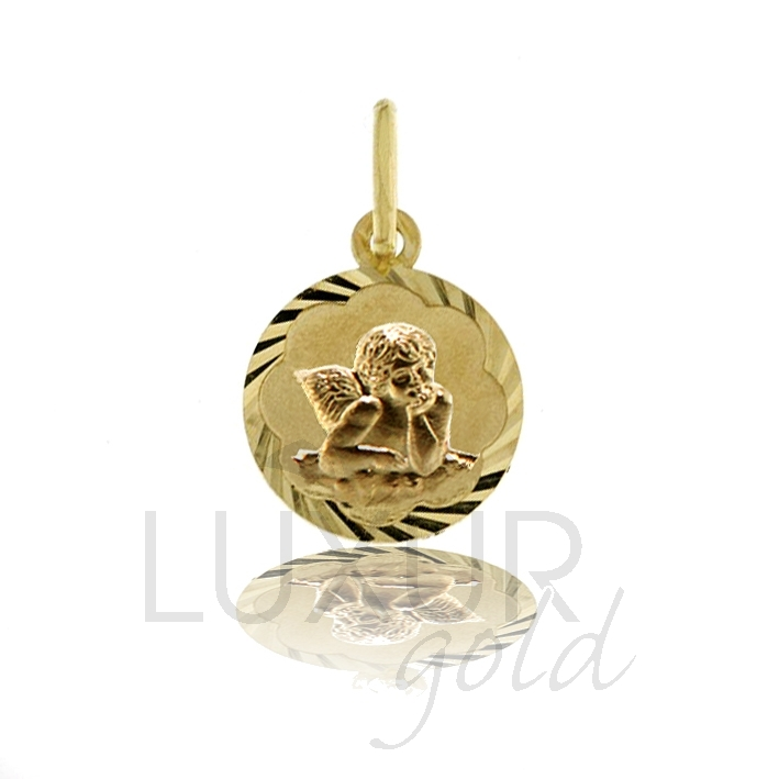 Zlatý přívěsek - zlatý andělíček - celozlatý anděl 585/0,62gr 2320098-1-0-0 (2320098-1-0-0)