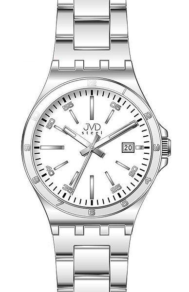 Pánské elegantní náramkové hodinky JVD steel W57.1 s datumovkou