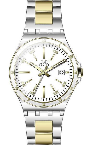 Pánské elegantní náramkové hodinky JVD steel W57.2 s datumovkou