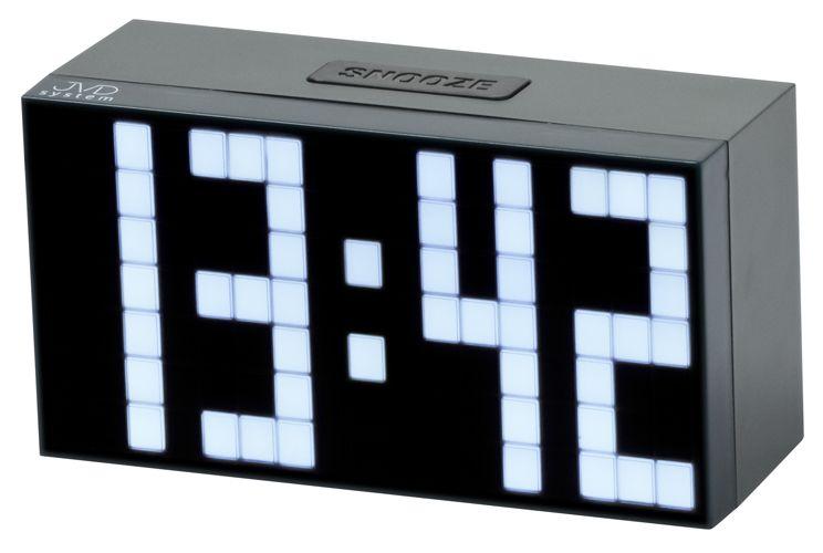 Svítící moderní digitální budík JVD SB2083.2 s bílými číslicemi NOVINKA 2014