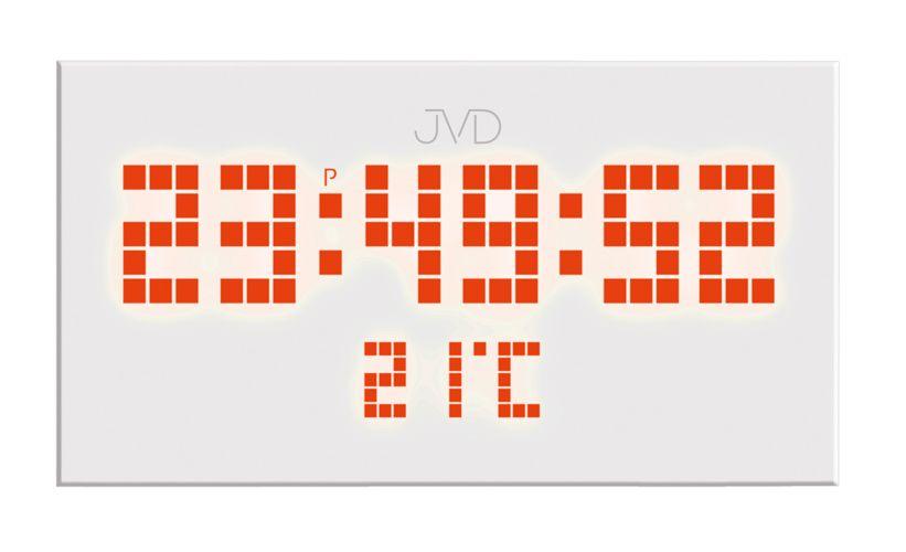 Hranaté digitální designové svítící LED hodiny SB2177.2 s oranžovými číslicemi