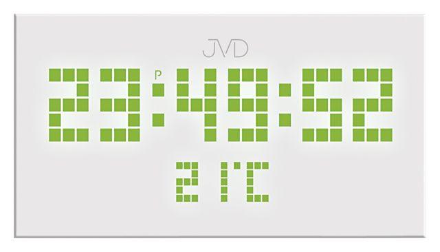 Hranaté digitální designové svítící LED hodiny SB2177.1 se zelenými číslicemi