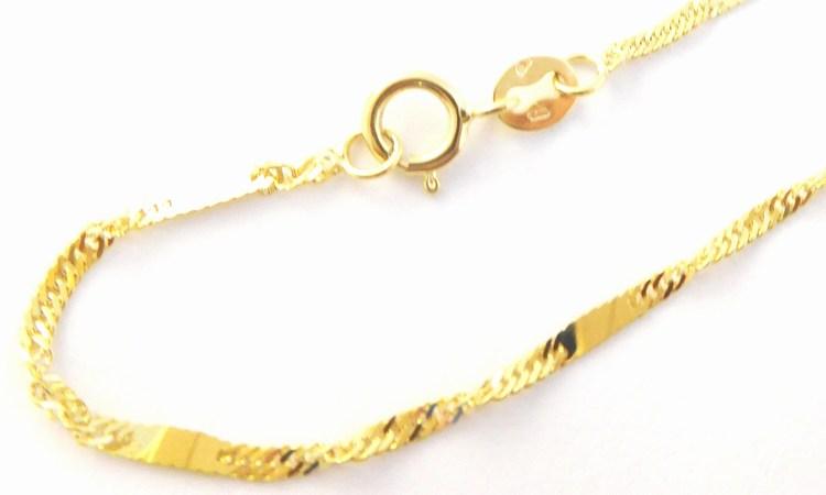 Silný točený mohutný zlatý řetízek (vhodný i na přívěsek) 585/1,94gr 50cm H162 POŠTOVNÉ ZDARMA!