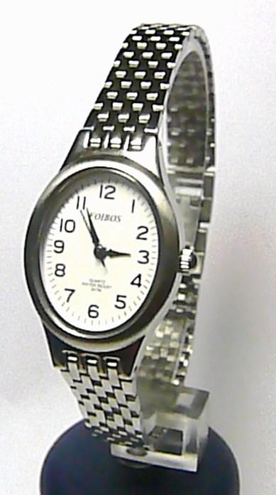 Dámské stříbrné společenské čitelné hodinky Foibos 2201 - 3ATM