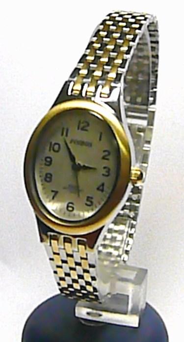 Dámské stříbrné společenské čitelné hodinky Foibos 22011 - bicolor 3ATM