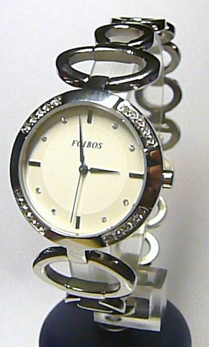 Luxusní stříbrné ocelové dámské hodinky Foibos 21786 se zirkony 3ATM 0b150c0873