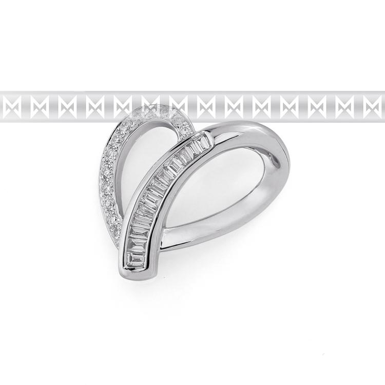 Luxusní zlatý diamantový přívěsek z bílého zlata posetý diamanty 24 ks 585/1,2gr POŠTOVNÉ ZDARMA! (3870081-0-0-99)
