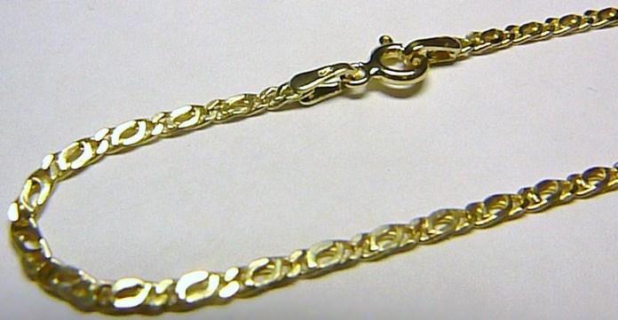Pánský mohutný silný zlatý řetěz (řetízek) 585/2,35gr 50cm H206