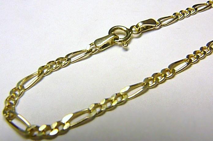 Pánský mohutný zlatý řetízek - figaro - pánské 50cm 585/1,45gr H209