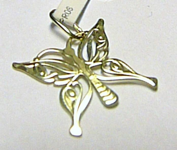 Velký zlatý přívěsek - motýlek pro štěstí 585/0,32gr P230