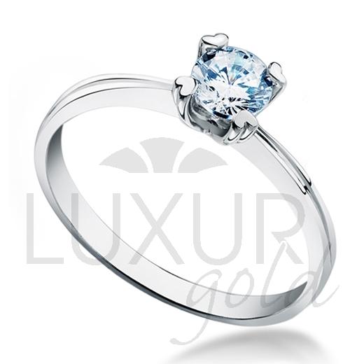 Luxusní zásnubní prsten z bílého zlata osazený velkým modrým zirkonem 5 mm 2,1grPOŠTOVNÉ ZDARMA! (1860267-0-51-1)