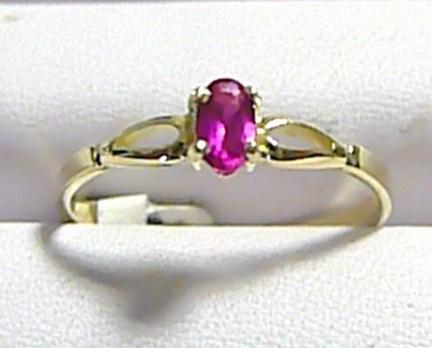 Zásnubní zlatý prstýnek s červeným rubínem 585/1,35 gr vel.57 P260 POŠTOVNÉ ZDARMA! (3510109)