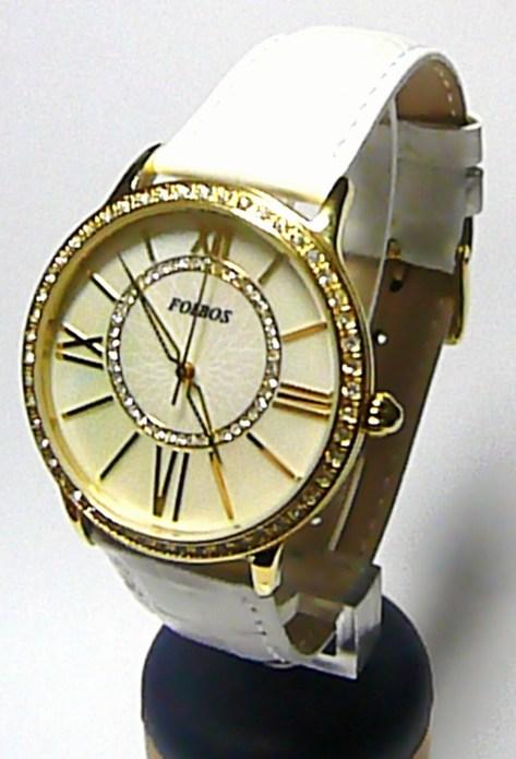 Luxusní ocelové zlacené dámské hodinky Foibos 1K93B voděodolnné 5ATM 15c72e34e9