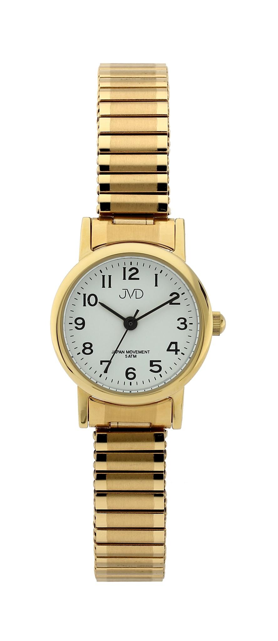 Dámské elegantní zlacené náramkové hodinky JVD steel J4010.5