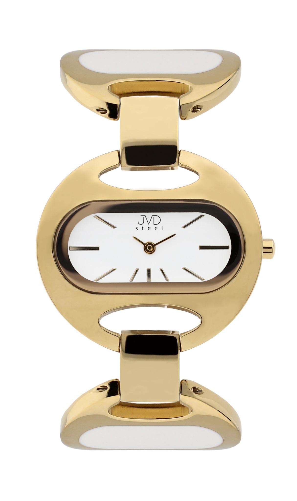 Luxusní dámské ocelové zlacené hodinky JVD steel J4118.3 - 5ATM POŠTOVNÉ ZDARMA! (POŠTOVNÉ ZDARMA!!)