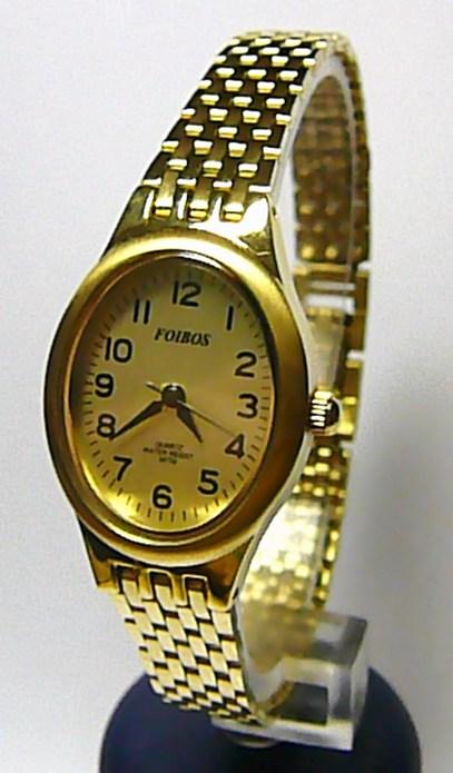Dámské pozlacené společenské čitelné hodinky Foibos 22012 3ATM