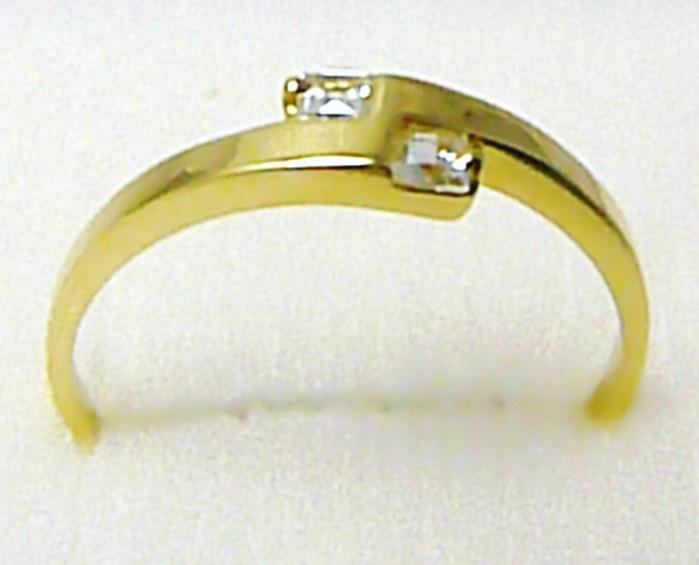 Zásnubní zlatý prsten osazený čirými zirkony 585/1,65 gr vel. 58 P284 POŠTOVNÉ ZDARMA! (3510206)