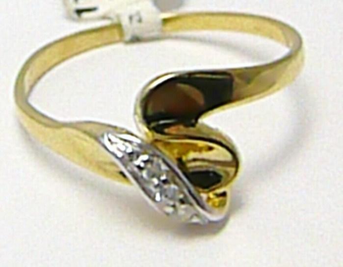 Mohutný silný zlatý prstýnek se zirkony 585/1,5 gr vel. 56 P286 POŠTOVNÉ ZDARMA! (1110579)