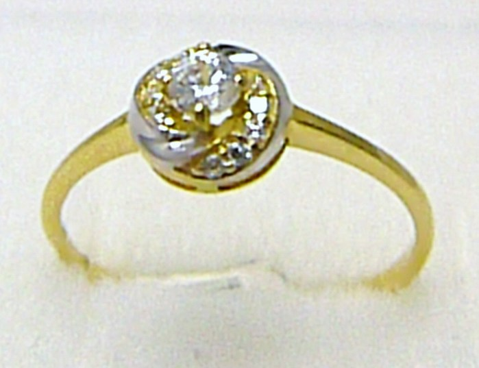 Zásnubní zlatý prstýnek v kombinaci zlata 585/1,35 gr vel. 57 P289 POŠTOVNÉ ZDARMA! (1410267)