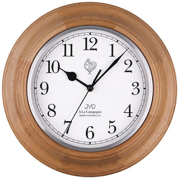 Dřevěné módní rádiem řízené hodiny JVD NR27043.68 francouzského vzhledu