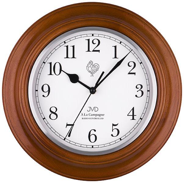 Dřevěné módní rádiem řízené hodiny JVD NR27043.41 francouzského vzhledu