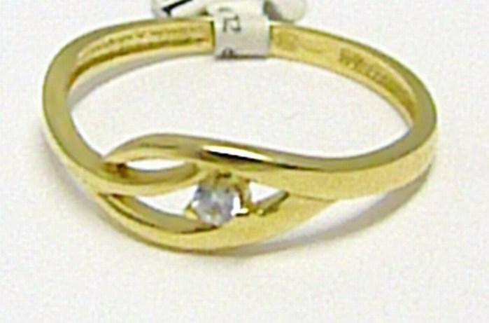 Zásnubní dámský zlatý prsten se zirkonem 585/1,45 gr vel. 54 P303 (1110560)