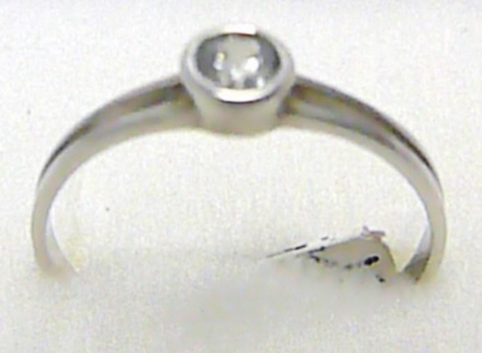 Zásnubní prsten z bílého zlata s jedním zirkonem 585/1,18 gr vel. 51 P306 (3560196)