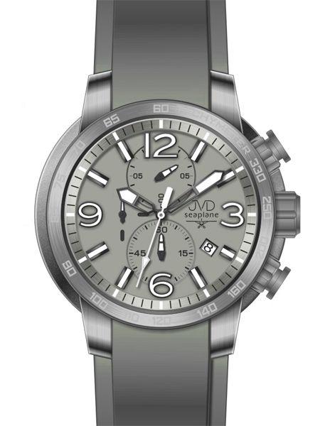 Vysoce odolené sportovné vodotěsné hodinky JVD seaplane W30.1 chronograf POŠTOVNÉ ZDARMA!